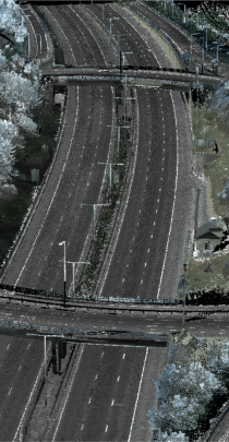remote sensing data image of highway interchange