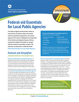 FHWA announcement on federal aid resources