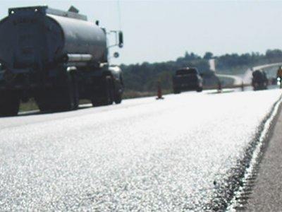 freshly paved road