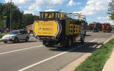Colorado DOTs driverless impact truck protects road work zone personnel