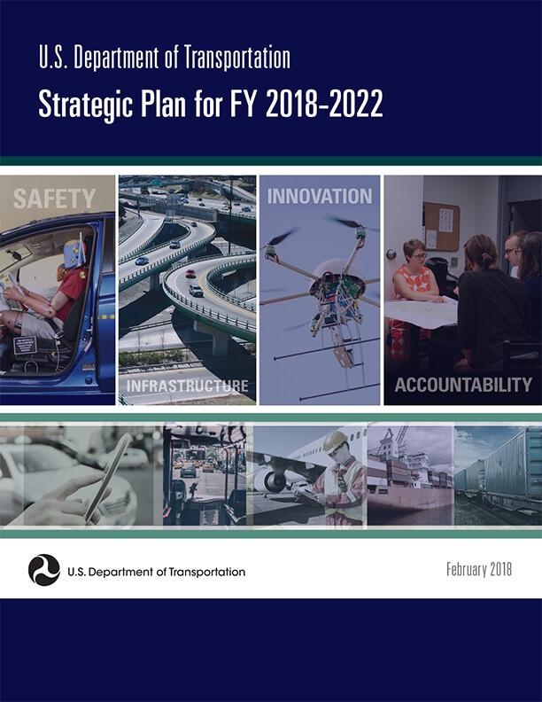 cover of the USDOT Strategic Plan 2018-2022