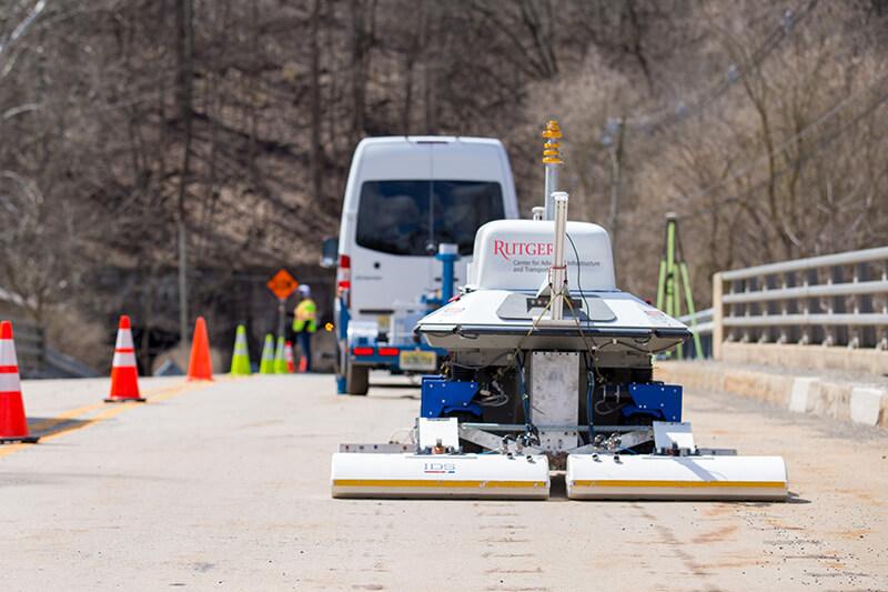 RABIT bridge robot scanning a bridge deck