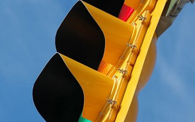 sideview of a traffic signal