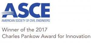 ASCE logo and Pankow award text