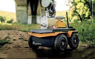 a small bridge inspection robot