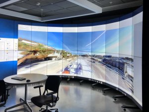 The WAVE lab's virtual reality projection wall
