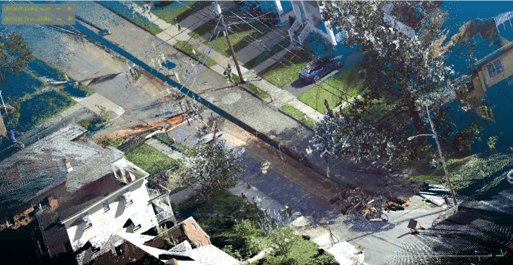 3D point cloud model from static LiDAR scan.