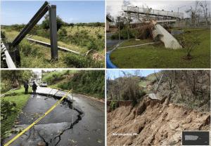 Transportation infrastructure damage following Hurricane Maria.