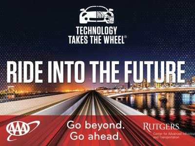 Technology Takes the Wheel Speaker Series Logo